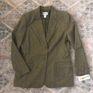 NWT $208 Pendleton women's olive  blazer size 10
